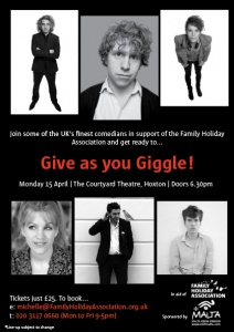 Give As You Giggle Charity Comedy Night