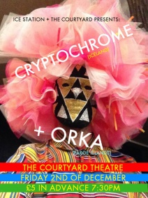 ICESTATION AND THE COURTYARD PRESENTS: CRYPTOCHROME (ICELAND) + ORKA (THE FAROE ISLANDS)