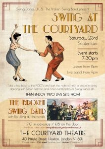 SwingDanceUk and The Broken Swing Band Present....  Swing at The Courtyard